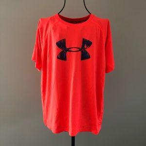 Under Armour Neon Pink Top - Youth Large